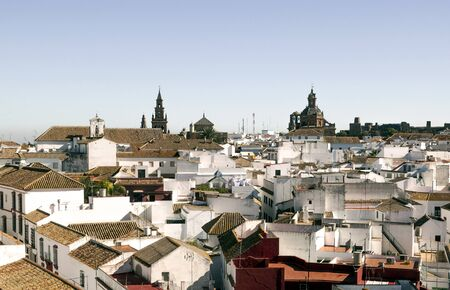 Carmona town located in Spain, in the province of Seville are white houses and some historic buildings Mudejar style Stock Photo - 16944056