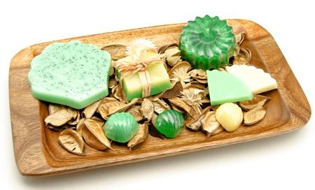 glycerin:  Scented glycerin soaps Stock Photo