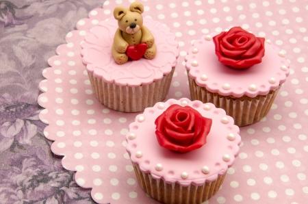 Valentine cupcakes Stock Photo - 17308301