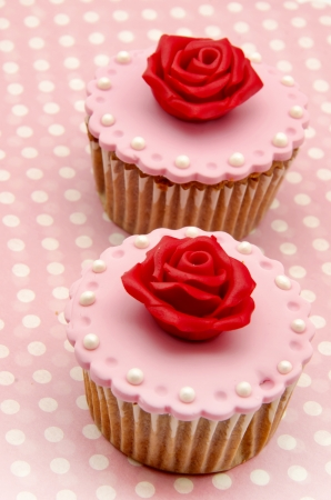 Valentine cupcakes Stock Photo - 17308289