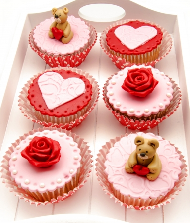 Valentine cupcakes Stock Photo - 17308272