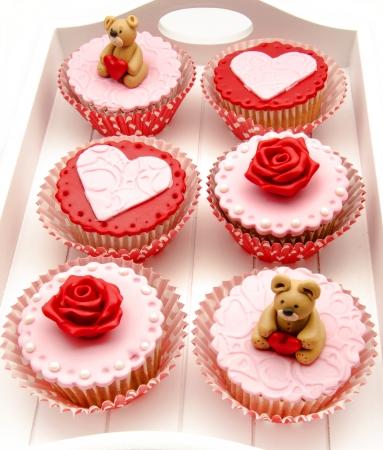 Valentine cupcakes Stock Photo - 17308272