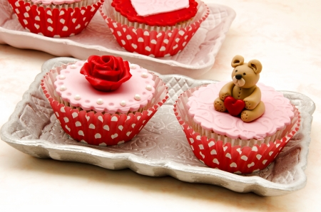 Valentine cupcakes Stock Photo - 17308307