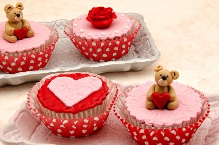 Valentine cupcakes Stock Photo - 17308297