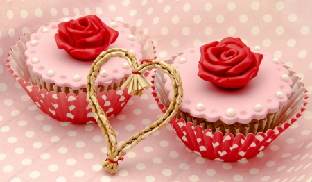 Valentine cupcakes Stock Photo - 17308276