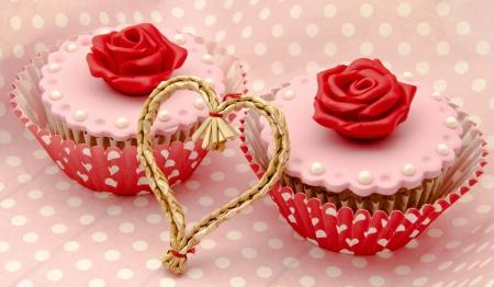 Valentine cupcakes Stock Photo - 17308276