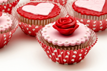 Valentine cupcakes Stock Photo - 17308294