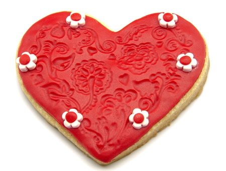 Valentine cookies decorated with heart shape Stock Photo - 17379212