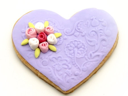 Valentine cookies decorated with heart shape Stock Photo - 17379175