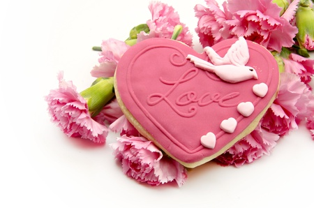 Valentine cookie heart shaped photo