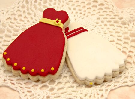 Cookies shaped dresses Stock Photo - 17768197