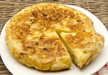 Typical omelette Spain photo