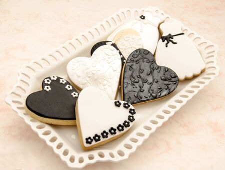 Cookies decorated with wedding Stock Photo - 18244125