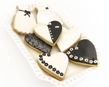 Cookies decorated with wedding Stock Photo - 18244115