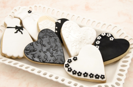 Cookies decorated with wedding Stock Photo - 18244131