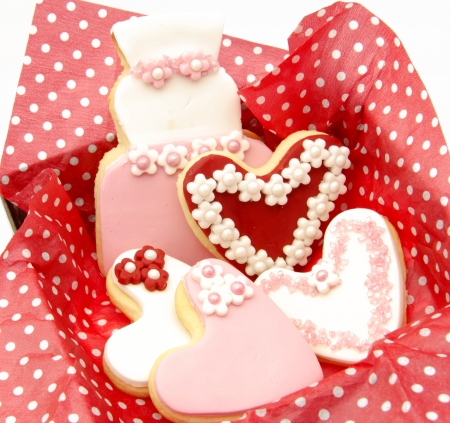 Cookies decorated with wedding Stock Photo - 19256238