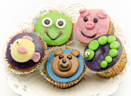Cupcakes decorated Stock Photo - 20218359