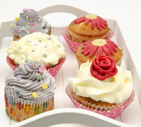 Cupcakes decorated Stock Photo - 20218339