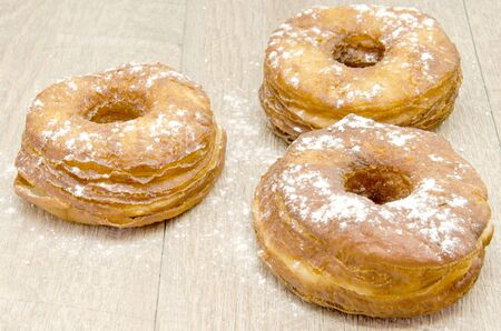 collation: Pastry and fried donut glaze Stock Photo