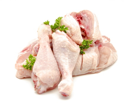 chicken meat: Pieces of raw chicken meat Stock Photo