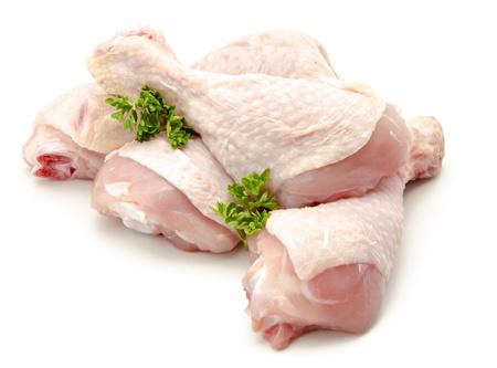 Pieces of raw chicken meat Banco de Imagens