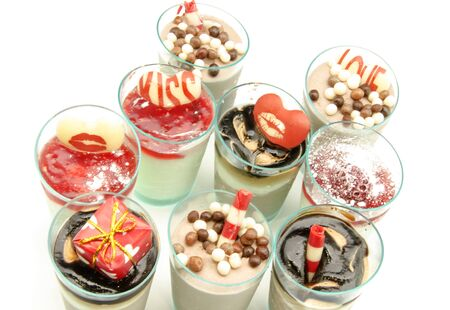 Dessert and chocolate ice cream photo