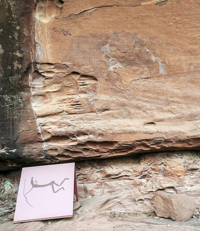 rupestrian: Rupestrian paintings located in the Sierra de albarracin in the spanish province of Teruel is an archer with arrow, is a picture vertically