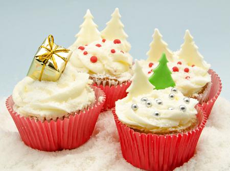 Christmas Cupcakes Stock Photo - 22990358