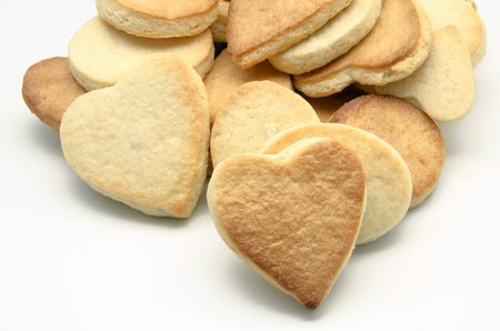 collation:  Butter cookies with heart shaped