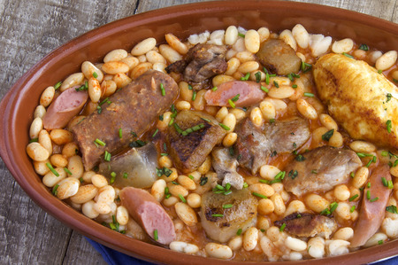 Cassoulet stew typical of southern France Stock Photo