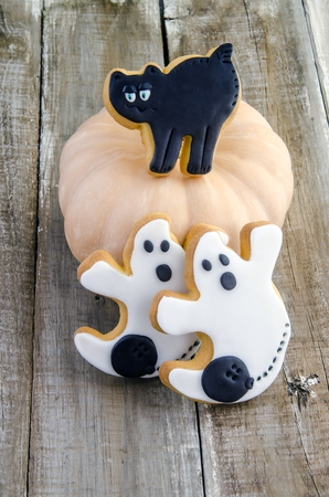 Cookies decorated to celebrate halloween photo