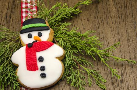galletas de navidad: Galletas de Navidad decorado con fondant Foto de archivo