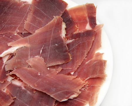thinly: Appetizer of ham thinly sliced