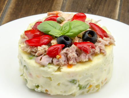 spanish food: Russian salad typical of the Mediterranean diet