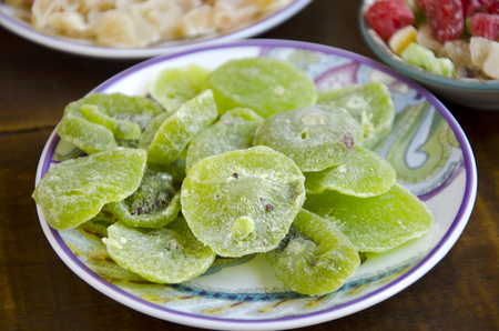 candied: Candied fruit typical of the Christmas holidays in Spain Stock Photo