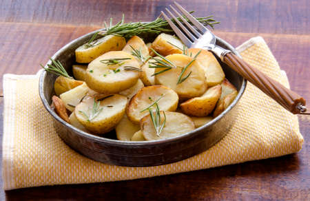 aromatic: Aromatic herbs Roasted potatoes with rosemary
