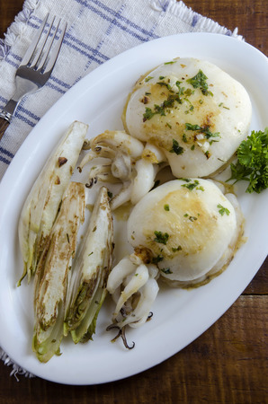 cuttlefish: Grilled cuttlefish with garlic and parsley
