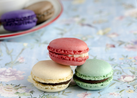 fillers: Parisian Macarons tradcional biscuit filled with cream