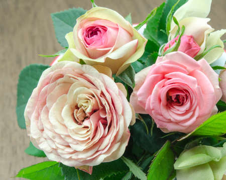 christmas perfume: Bouquet of fresh roses