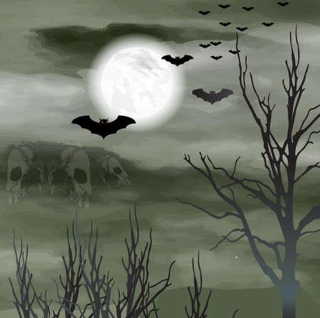 ハロウィンの背景  イラスト・ベクター素材
