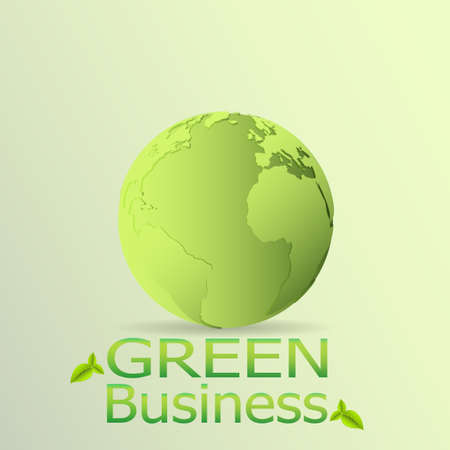 Green Business Background Vector