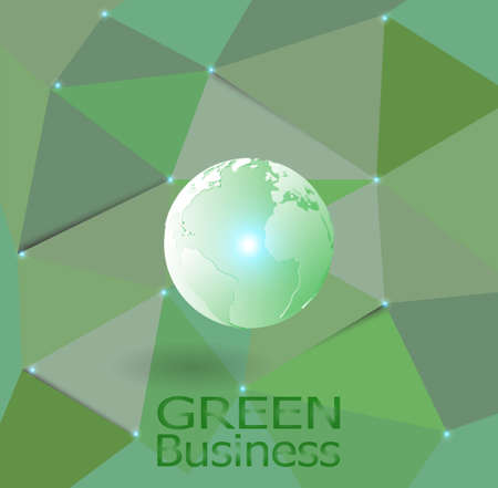 green business background vector. it can be applied for kinds of media presentation.