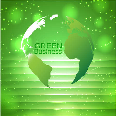 Green Business Background with dotted lights.