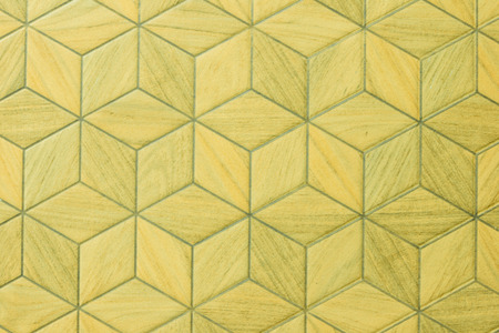 david brown: BackgroundYellow wallHexagonal pattern
