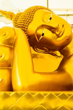 reclining: reclining BuddhaThe reclining Buddha templePhetchaburi ProvinceThailand Stock Photo
