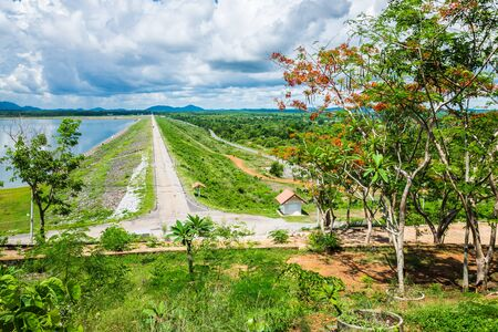 Klong Si Yat Reservoir  at Chachoengsao in Thailand Stock Photo