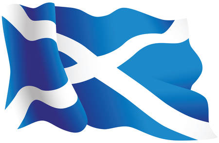 A vector image of the Scottish flag.