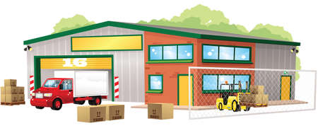 An image of a small modern warehouse building.