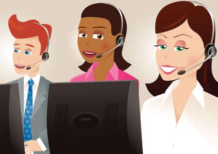 Una imagen de algunos trabajadores del centro de la llamada.