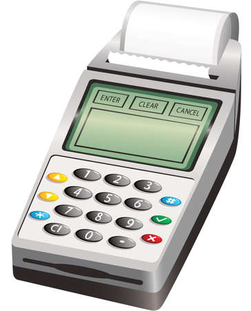 An illustration of a typical wireless PIN payment machine.
